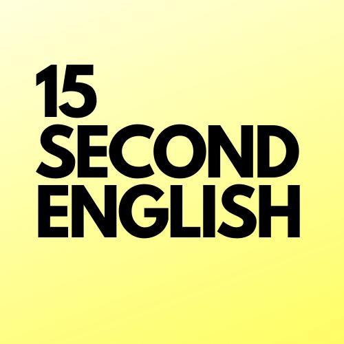 15secondenglish TikTok
